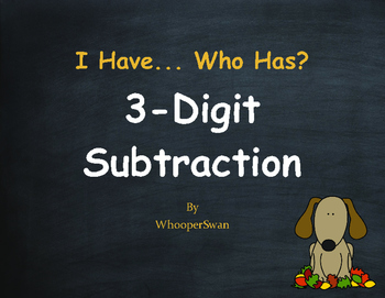 Fall Math: 3-Digit Subtraction - I Have, Who Has