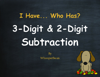 Fall Math: 3-Digit and 2-Digit Subtraction - I Have, Who Has