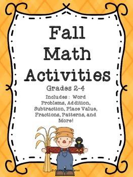 Fall Math Activities 2-4