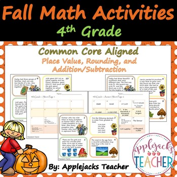 Fall Math Activities - 4th Grade - Place Value