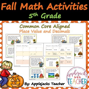 Fall Math Activities - 5th Grade - Place Value