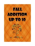Fall Math Addition up to 10