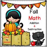 Fall Math / Apples & Pumpkins / Two Digit Addition & Subtr