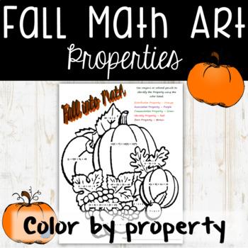 Fall Math Art Coloring Activity - Properties