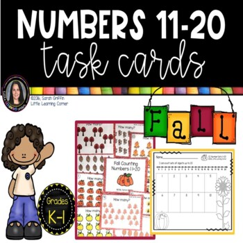 Fall Math Center ~ Task Cards ~ Numbers 11-20