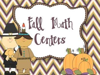 Fall Math Centers {2nd Grade Common Core Aligned}