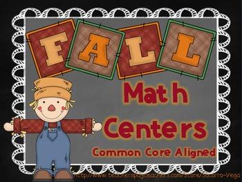 Fall Math Centers: Common Core! Third Grade!
