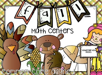 Fall Math Centers First Grade {CCSS}