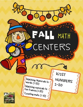 Fall Math Centers (Numbers 1-20)