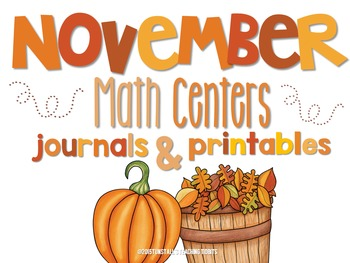 November Math Centers and Printables