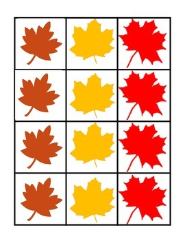 Fall Math Centres - Leaves