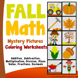 Fall Math Activities, Fall Math Worksheets Bundle (Autumn Math)