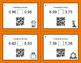 Fall Math: Comparing Decimals QR Code Task Cards