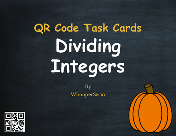 Fall Math: Dividing Integers QR Code Task Cards