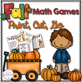 Math Games - Print, Cut, Go Fall Theme