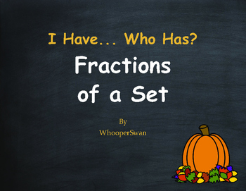 Fall Math: I Have, Who Has - Fractions of a Set