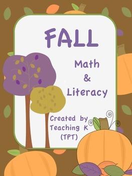 Fall Math & Literacy Kindergarten Pack