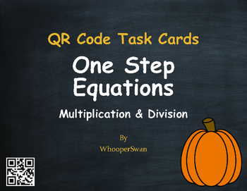 Fall Math: One Step Equations (Multiplication & Division)