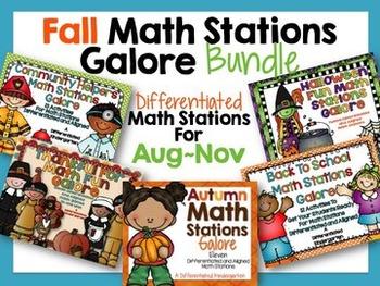 Fall Math Stations Galore Bundle-Five Differentiated Stati