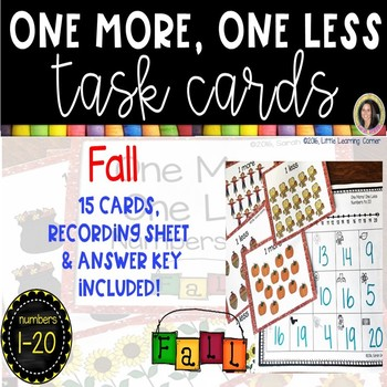 One More, One Less ~ Fall Math Cener ~ SCOOT