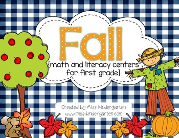 Fall Math and Literacy Centers {First Grade Bundle}