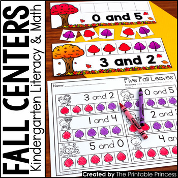 Fall Math and Literacy Centers for Kindergarten {6 Pack}