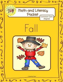 Fall Worksheets Emergent Reader Task Cards