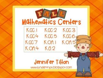 Fall Mathematics Centers