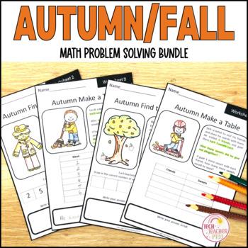 Fall Maths Problem Solving Bundle Part Part Whole Make Tab