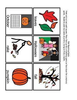Fall Memory Matching Game (PDF)