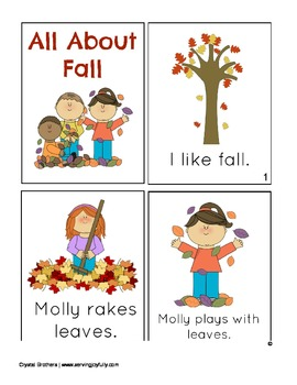 Fall Mini-Book for Early Readers