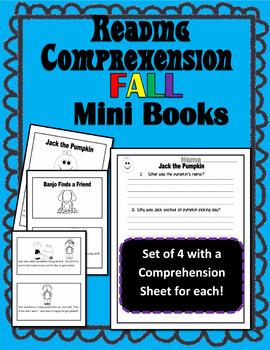 Fall Mini Books Reading Comprehension Set