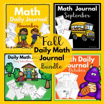 Kindergarten - Special Education -Math Daily Journals Fall Bundle