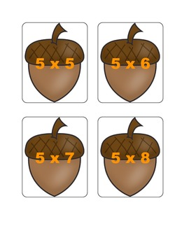Fall Multiplication Fact Games ( x 5)