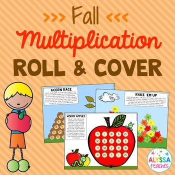 Fall Multiplication Facts Roll and Cover Games