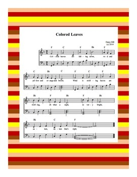 Fall Music- Colored Leaves Sheet Music