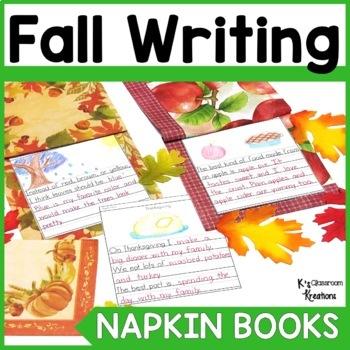 Fall Napkin Book Writing Prompts
