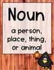 Word Work - Fall Noun & Verb Literacy Sort {ABC Order, Anc