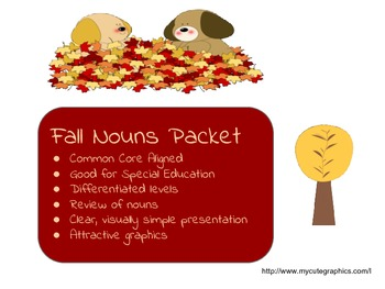 Fall Nouns Packet