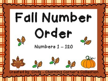 Number Order - Thanksgiving