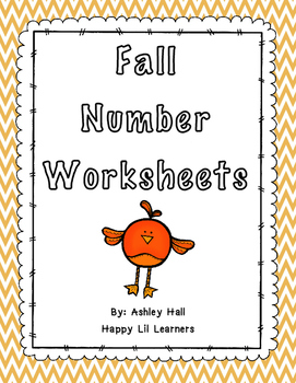 Fall Number Worksheets 1-10