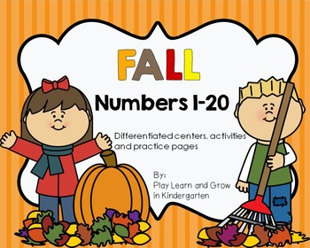 Fall Numbers 1-20: 12 Differentiated Common Core Centers a