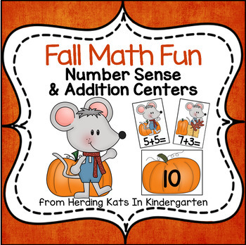 Fall Numbers & Addition Fun! Math Pack!