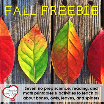 Fall/October NO PREP Mini Unit Sampler FREEBIE