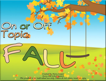 Fall On-Off Topic: Lite Version