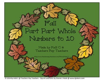 Fall Part Part Whole Numbers for Addition and Subtraction