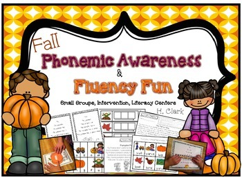 Fall Phonemic Awareness and Fluency Fun {Guided Reading, I