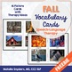 Fall Picture Vocabulary Cards for Speech-Language Therapy