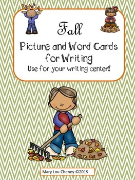 Fall Picture and Word Cards for Writing