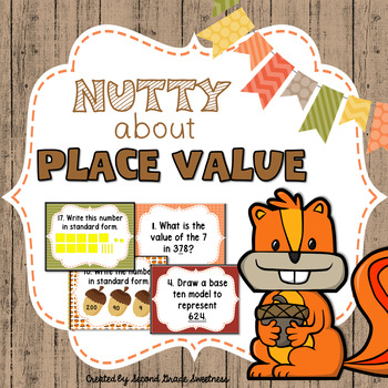 Fall Place Value Activity: Nutty About Place Value